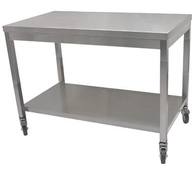 table inox centrale ou adoss e et plan de travail inox cogenim retrouvez notre gamme de tables. Black Bedroom Furniture Sets. Home Design Ideas